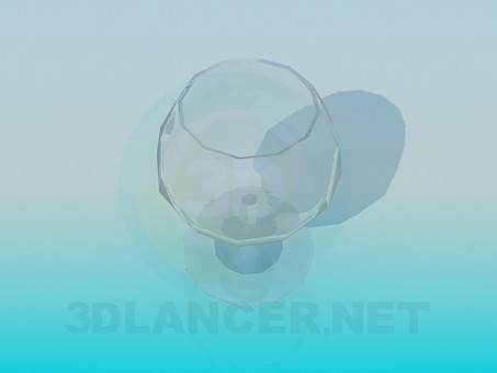 3d model A glass of brandy - preview