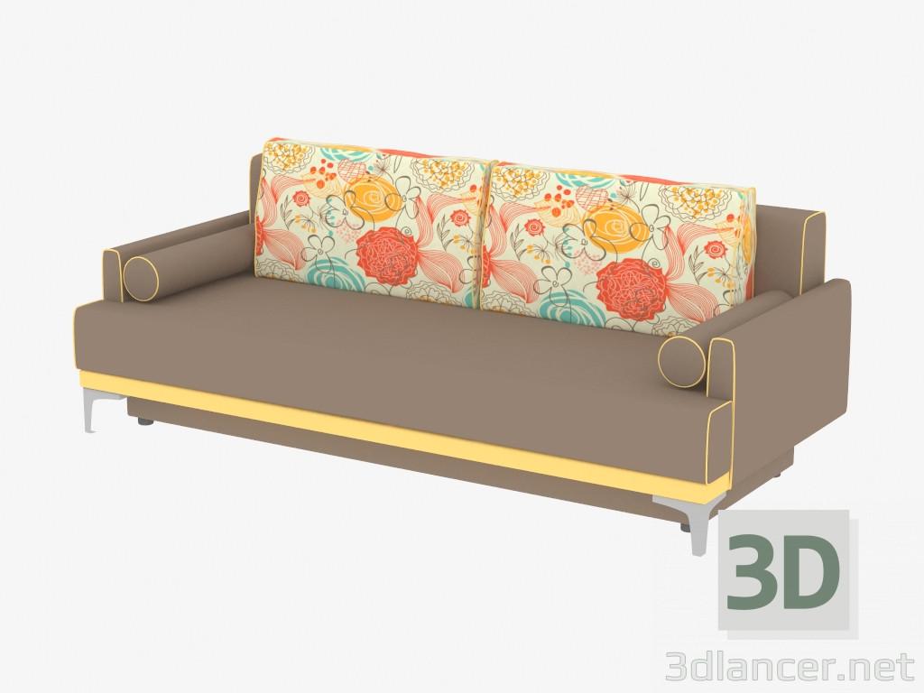 3d Model Sofa Modern Triple Naples Manufacturer