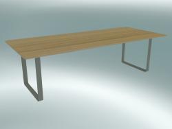Table 70/70, 255x108cm (Oak, Gray)