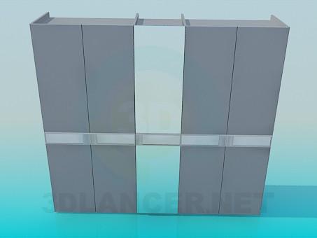 3d моделирование Шкаф-купе с зеркалом модель скачать бесплатно
