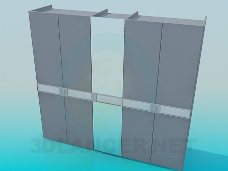 3d model Wardrobe with mirror - preview