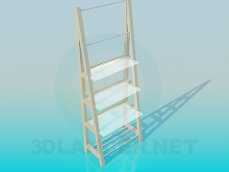 3d model Shelves with different racks - preview