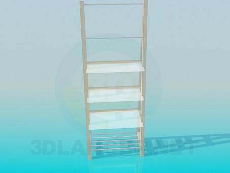 3d модель Этажерка с разными полочками – превью