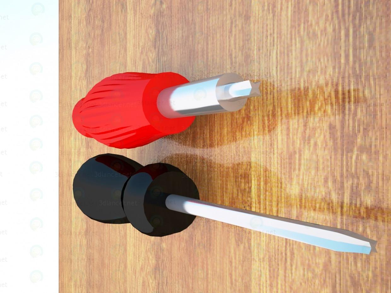 3d modeling screwdrivers model free download