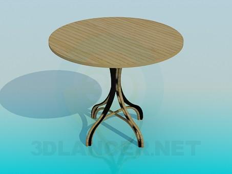 3d моделирование Деревянный стол на плетеной ножке модель скачать бесплатно
