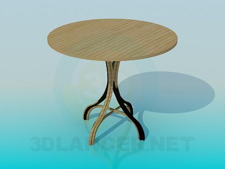 3d модель Деревянный стол на плетеной ножке – превью