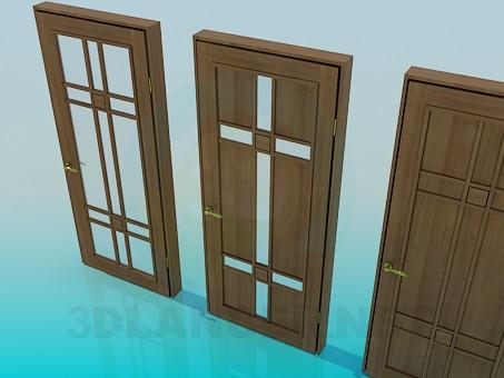 descarga gratuita de 3D modelado modelo Puertas de madera