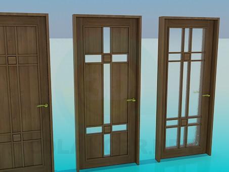 3d модель Деревянные двери – превью