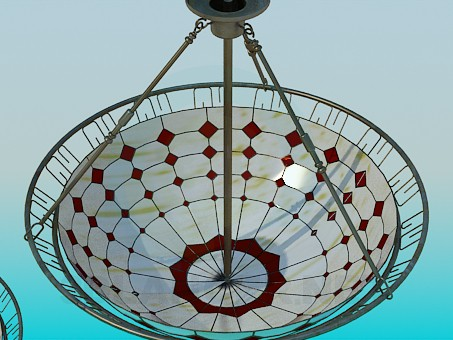 3d modeling Chandelier Glass model free download