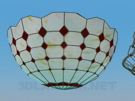 modelo 3D Lámpara Chandelier cristal - escuchar