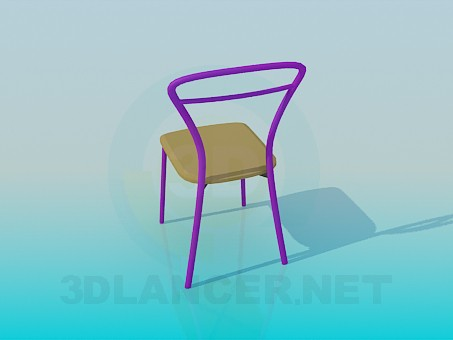 3d model Stool metal-based - preview