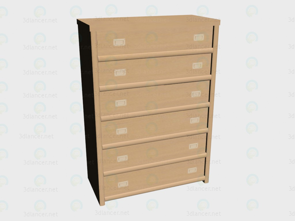 3d modeling High chest model free download