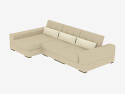 Corner sofa with sleeping place Salvador