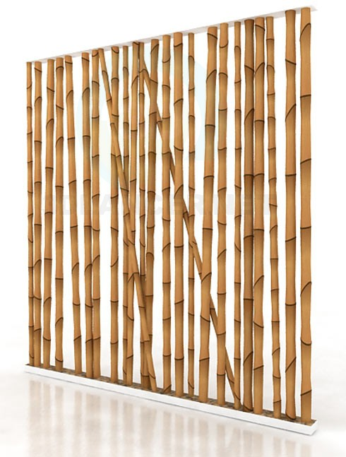 3d modeling bamboo wall model free download