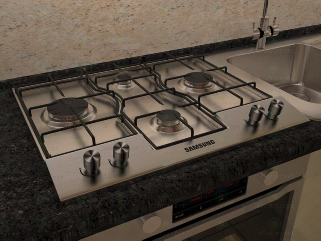 3d model The hob - preview