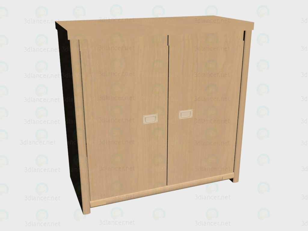 3d modeling Chest of drawers with doors model free download