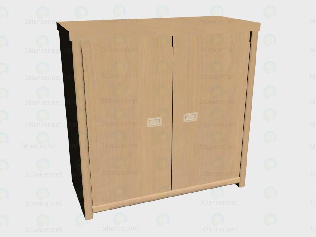 3d модель Комод с дверьми VOX – превью
