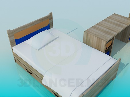 3d model A set of furniture in the nursery - preview