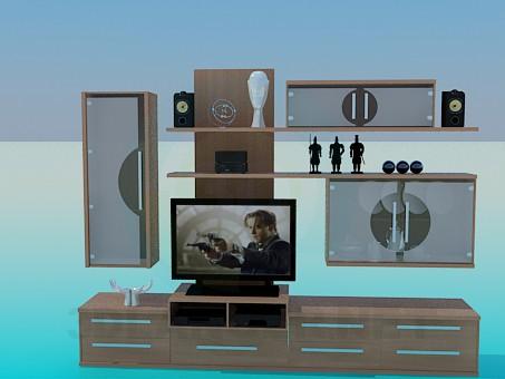 descarga gratuita de 3D modelado modelo Estante para TV