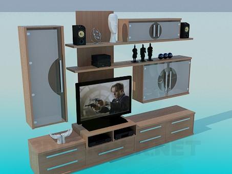 modelo 3D Estante para TV - escuchar