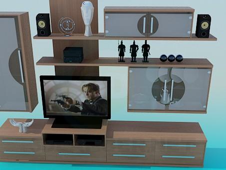 3d model Shelve for TV - preview