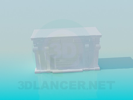 descarga gratuita de 3D modelado modelo Chimenea con adornos