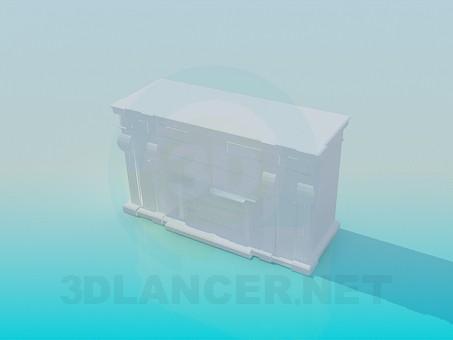 3d модель Камін з орнаментом – превью