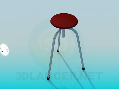 Download gratuito di modello 3d uno sgabello a tre gambe 3ds