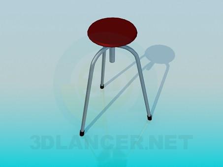 modelo 3D Un taburete de tres patas - escuchar
