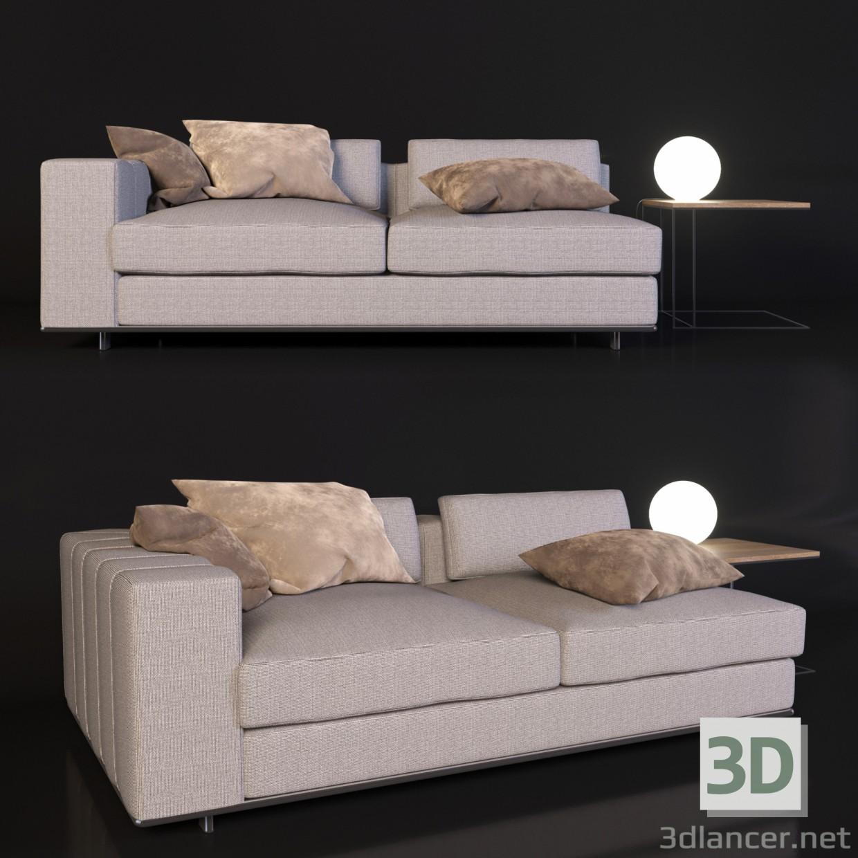 3D Modell Minotti Sofa   Vorschau