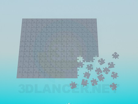 3d modeling Puzzle model free download