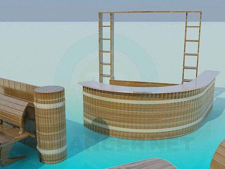 3d model Bar and restaurant tables - preview