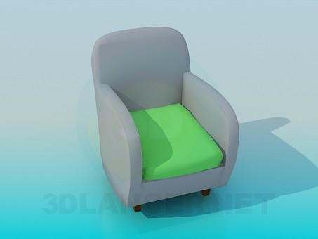 3d модель Простое кресло – превью