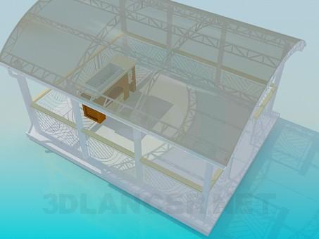 3d моделирование Беседка с мангалом модель скачать бесплатно
