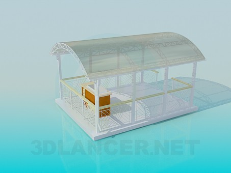 3d model Summerhouse with barbecue facilities - preview