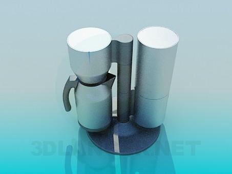 3d modeling coffee maker model free download