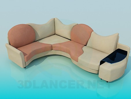 3d modeling Sofa with coffee table model free download