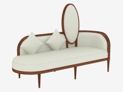 Leather classic sofa (art. JSL 3707b)