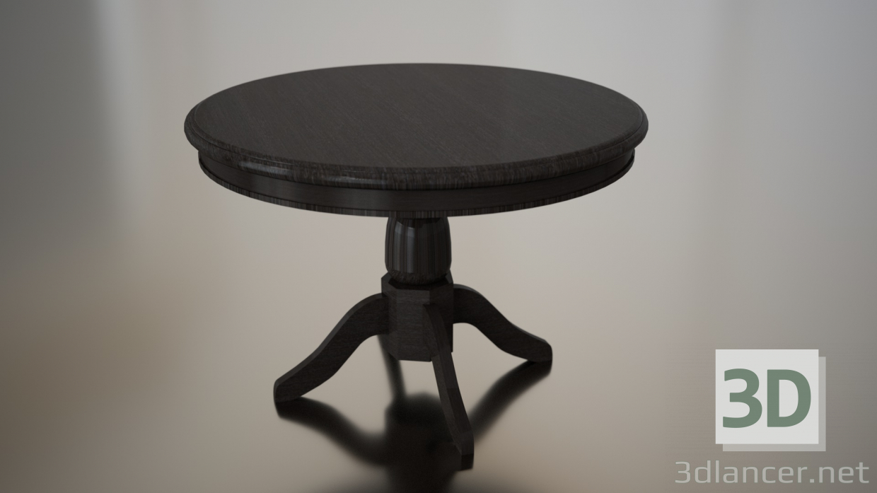 3d model round table id 21854 for Table 3d model