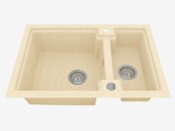 Waschen, 1,5 Schalen ohne Flügel zum Trocknen - Sand Polka (ZQO 7503)