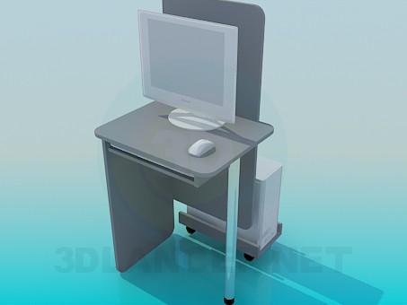 3d модель Столик для компьютера – превью