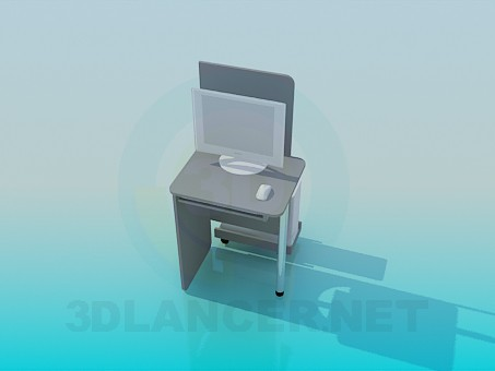 3d model Table for computer - preview