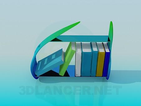 3d модель Полочка для литературы – превью