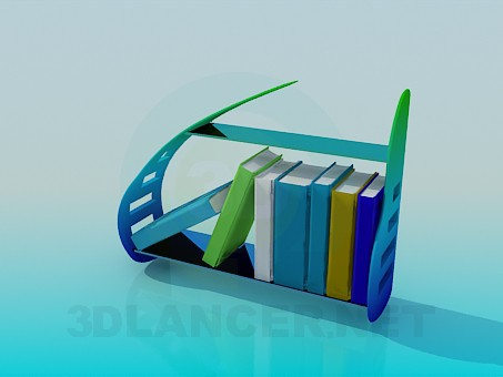 3d model The base for literature - preview