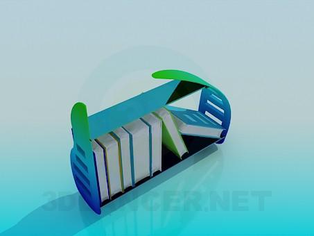 modelo 3D La base para la literatura - escuchar