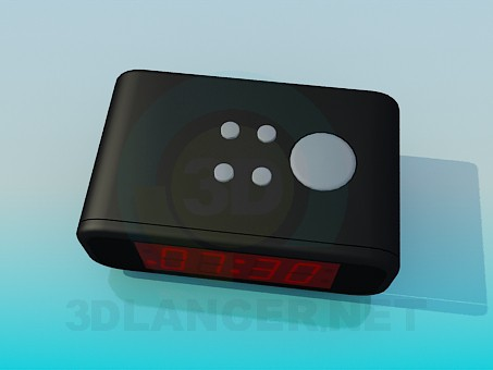 3d model Electronic clock - preview