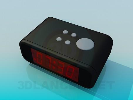 modelo 3D Reloj electrónico - escuchar