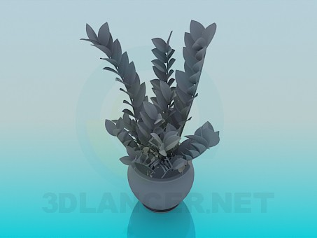 3d modeling Pot with flower model free download
