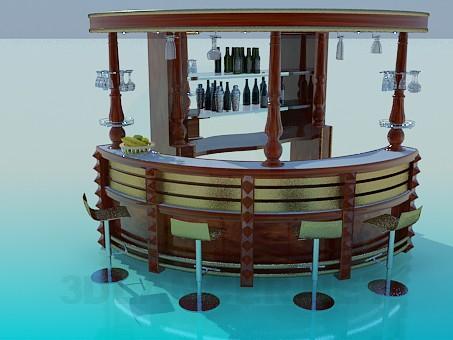 modelo 3D Bar - escuchar