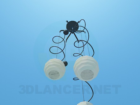 3d model Chandelier with spirals and balls - preview